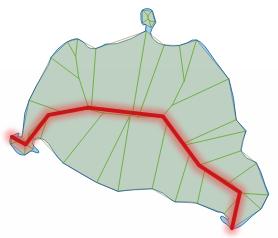 Vingiuota centro linija
